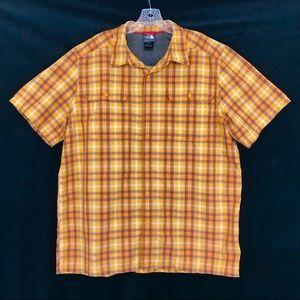 North Face Short Sleeve Button Front Shirt Sz XL
